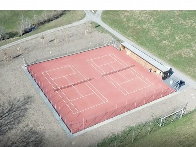 Luftaufnahme Neue Tennisplätze TCW